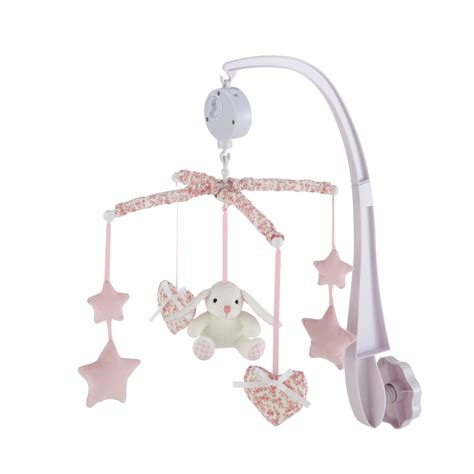 Musical Baby Crib Mobile Victorine Musical Baby Mobile In Pink Maisons Du Monde