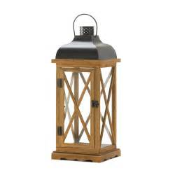 Candle Lanterns Hayloft Large Wooden Candle Lantern Wholesale At Koehler
