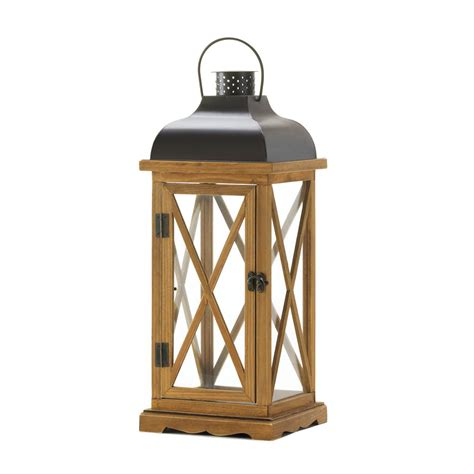 Home Decor Candle Lanterns Hayloft Large Wooden Candle Lantern Wholesale At Koehler Home Decor