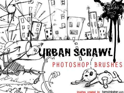 create doodle free scrawl photoshop brushes by invisiblesnow on deviantart