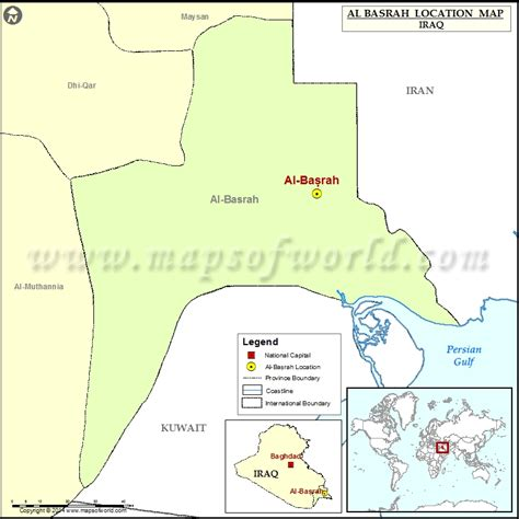 where is basra on a map where is basrah location of basrah in iraq map