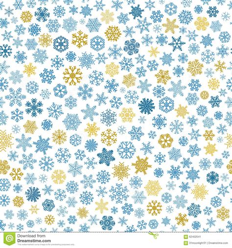 pattern blue brown seamless pattern of snowflakes blue and brown on white