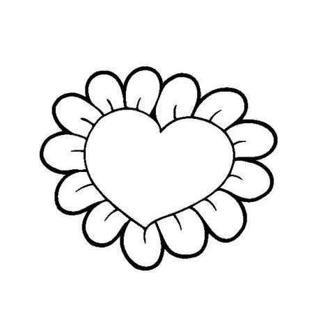 imagenes de rosas y corazones para dibujar corazones para colorear pintar e imprimir