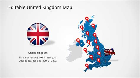 Microsoft Powerpoint Templates Uk Uk Map Template For Powerpoint Slidemodel
