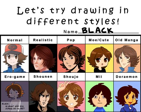 S Drawing Meme by Different Styles Meme By Artist Black On Deviantart