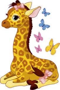 Repositionable Wall Murals nursery stickers ns9 cartoon giraffe sitting down