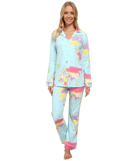 bed head pajamas bedhead long sleeve classic pj set rows of roses zappos