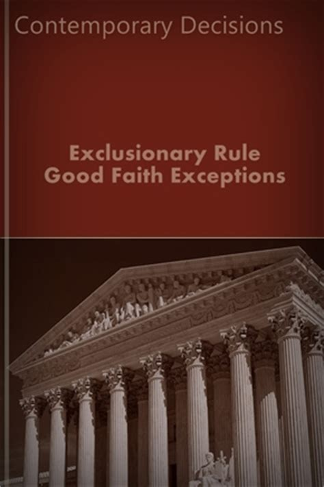 10 Exceptions To Search Warrant Rule Exclusionary Rule Faith Exceptions Landmark Publications