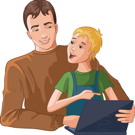 child asking adult questions safe internet surfing tips for kids