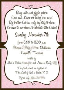 template baby shower invite wording