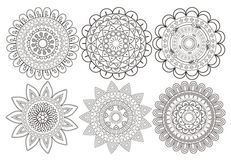 mandala templates for photoshop cute mandala flower brush collection free photoshop