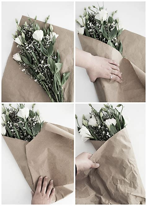 How To Make Wrapping Paper Flowers - 3 easy ways to wrap flowers