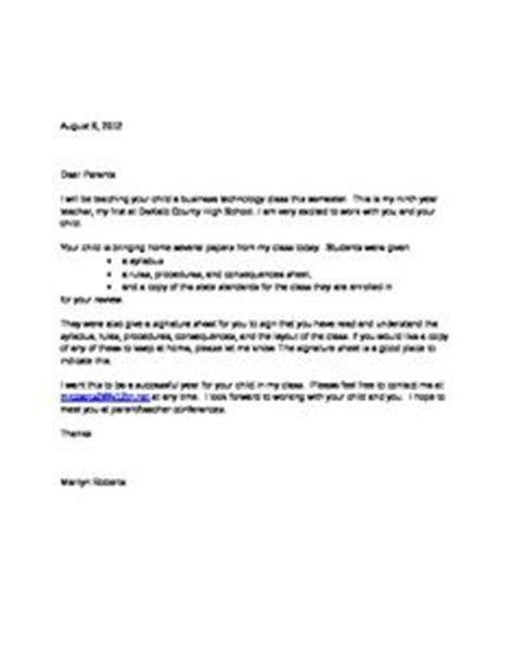 Introduction Letter To Parents From Team Parent Welcome Letters On Student Welcome Letters Classroom Welcome Letter And
