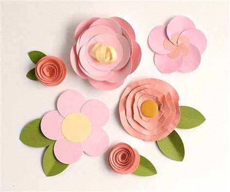 How To Make Easy Paper Flowers For Cards - make easy paper flowers 5 fast tutorials on craftsy