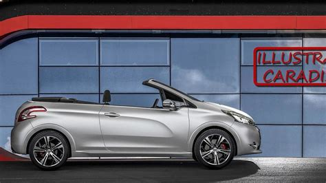 peugeot 208 cabriolet for sale peugeot 208 convertible due in 2015 with top report