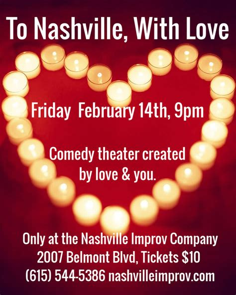 valentines nashville valentines weekend improv shows in nashville 2 14 2 15