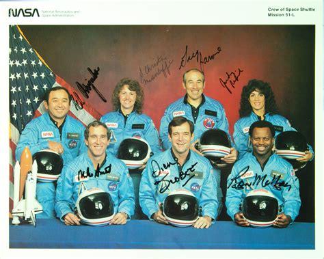 challenger astronauts names astronaut autographs blend with baseball memorabilia