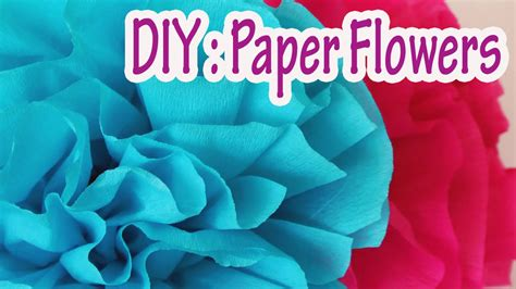 How To Make Simple Crepe Paper Flowers - diy crafts how to make crepe paper flowers easy