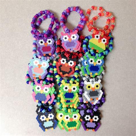 custom edc owl perler kandi bracelet edclv las vegas
