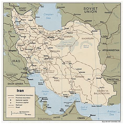 map of iran with cities political map of iran with major cities and roads 1990