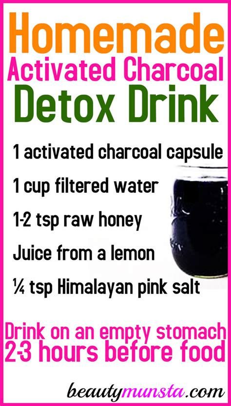 Activated Charcoal Detox Drink Recipe by Activated Charcoal Juice Recipe Beautymunsta