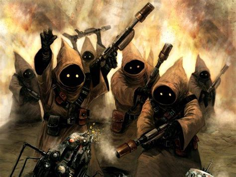 jawas star wars artwork science fiction wallpapers hd