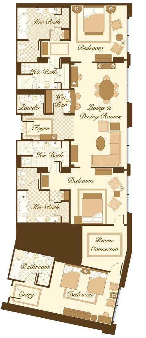 bellagio hotel room layout las vegas suite bellagio penthouse suite floorplan 2