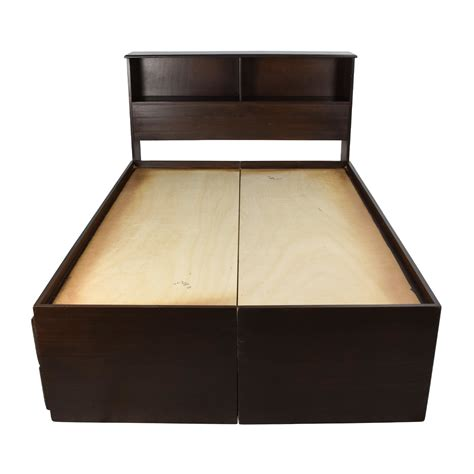 captains bed with bookcase headboard beds used beds for sale