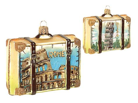 rome decoration hand rome italy travel suitcase polish mouth blown glass