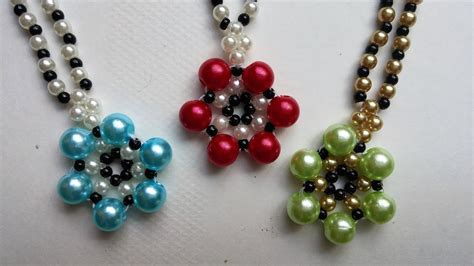 easy jewelry for beginners how to make beaded flower necklace easy jewelry pattern