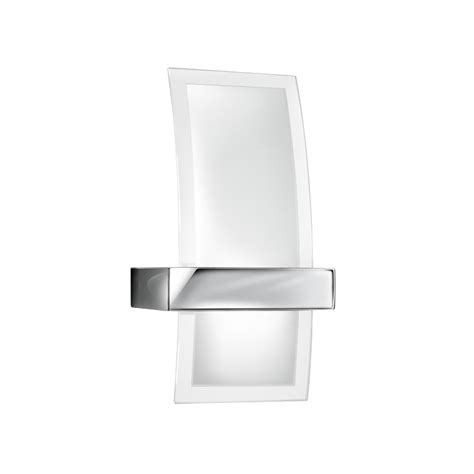 bathroom wall light in solid brass and chrome finish