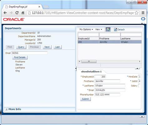 tutorial web page design pdf oracle jdeveloper 12c 12 1 2 tutorials developing rich