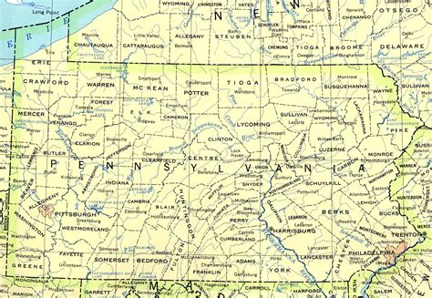 map of pa counties pennsylvania base map