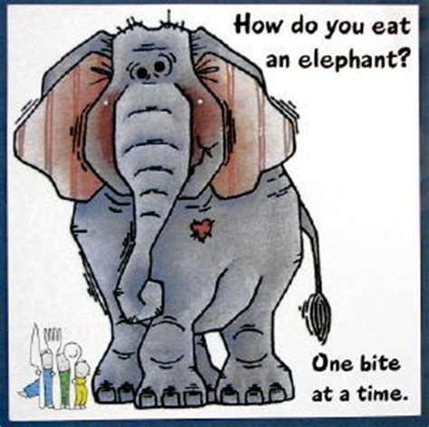 one bite at a time everyday meal plans for fighting cancer disease ibs obesity and other ailments books the awakening center quot inner wisdom quot how to eat an elephant
