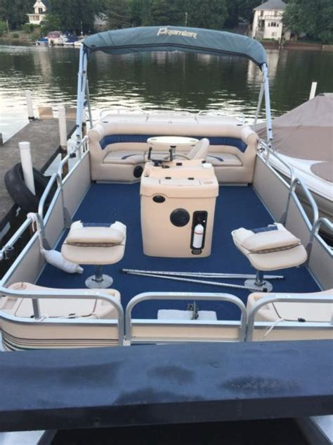 pontoon boat trailer for sale illinois 2001 premier pontoon boat for sale in carpentersville