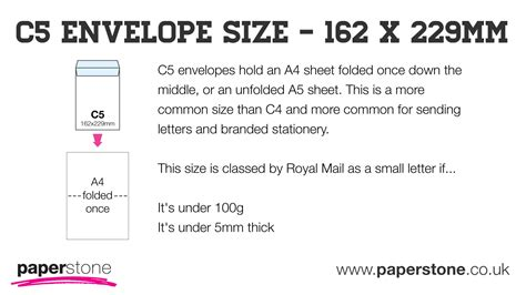 How To Make An A5 Envelope Out Of A4 Paper - c5 envelopes a5 envelopes paperstone