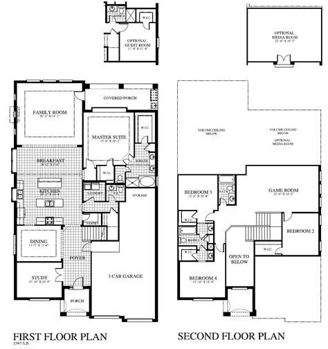home plans houston plan 3419 saratoga homes houston