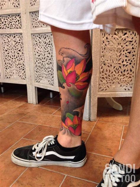 tatuaggi carpa con fiori di loto japanese archives sandi custom