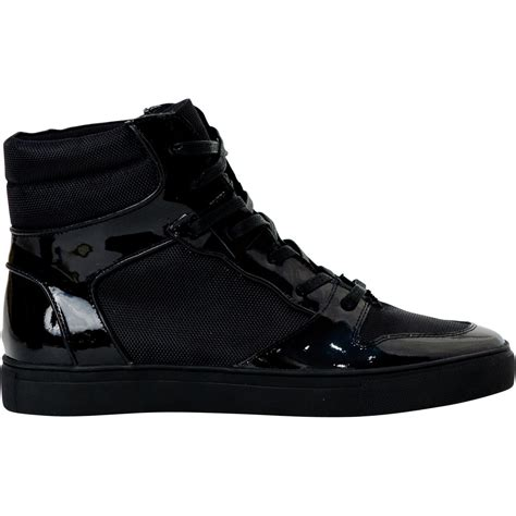 mens black patent leather sneakers fillmore classic engine black patent leather high top
