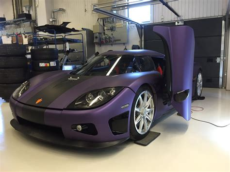koenigsegg wrapped koenigsegg s tribute to prince is a ccxr wrapped in purple