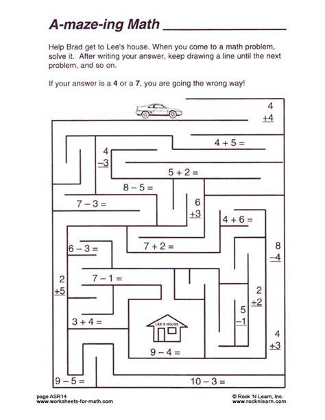 math worksheets puzzles avas math pinterest