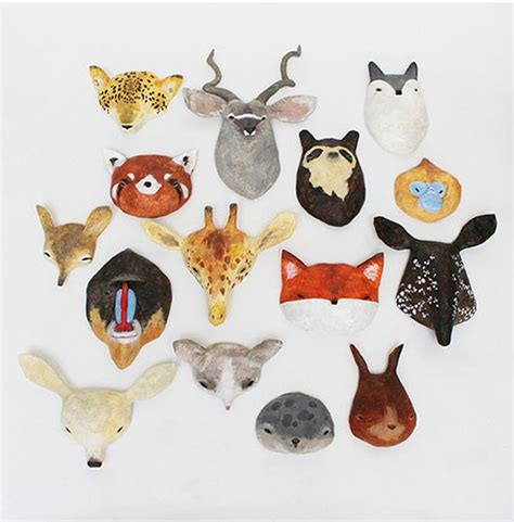 How To Make Large Paper Mache Animals - paper mache animals paper mache and animal masks on