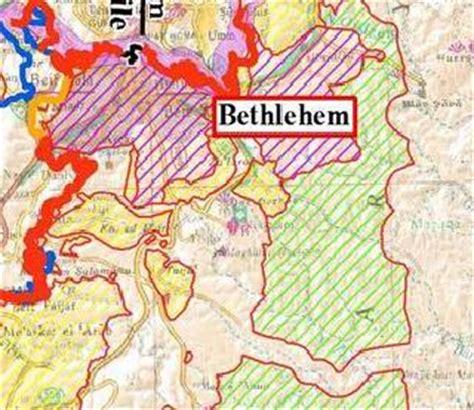 bethlehem jerusalem map christian century magazine allows wall error