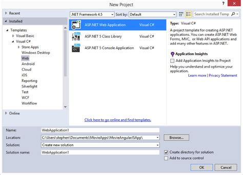 templates for asp net projects asp net 5 and angularjs part 1 configuring grunt uglify