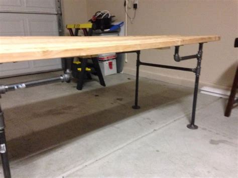Black Pipe Table by Black Iron Pipe Table