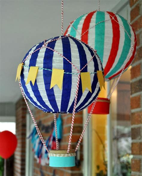 Handmade Air Balloon Decorations - diy air balloons ideas