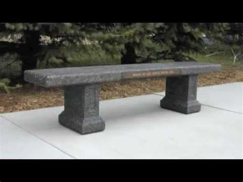 concrete memorial bench concrete memorial products doty sons concrete products
