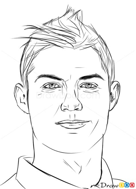 coloring pages ronaldo cristiano ronaldo illustrations coloring home