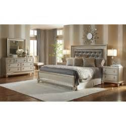 set bedroom furniture chagne 6 cal king bedroom set