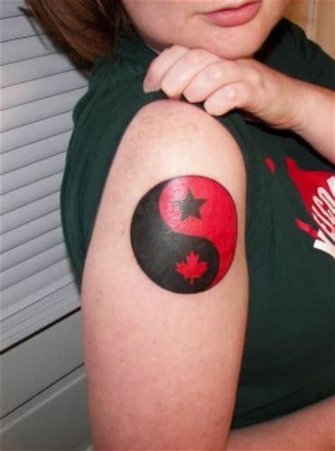 ying and yang foot tattoos canadian yin yang tattoo on shoulder
